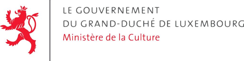 Deze afbeelding toont het logo van het Ministerie van Cultuur in Luxemburg