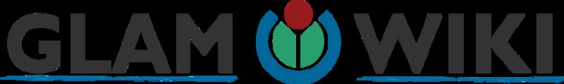 Deze afbeelding toont het logo van GLAM-Wiki