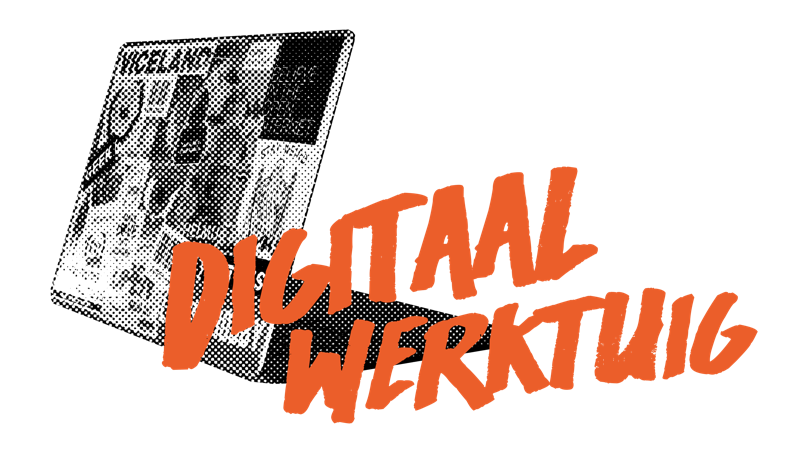 Deze afbeelding toont het logo van Digitaal Werktuig in de kleur oranje